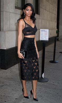 Chanel Iman leaving 'The Wendy Williams Show' in NYC