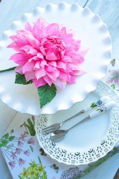 Paper Flowers and high tea! | Paper Flowers Handmade Tutorials DIY