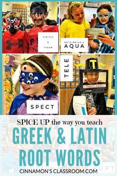 Greek and Latin Root Words - Cinnamon's Classroom