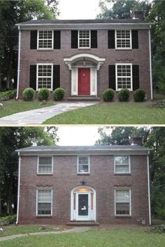 Brick Colonial Home Updated with Shutters & New Entry