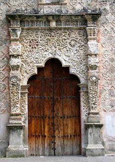 Old church door in Mexico