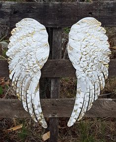 Why is Shabby Chic Decor So Popular? Angel Wings Art, Wooden Angel Wings, Angel Wings Wall Decor, Angel Art, Shabby Chic Angel Wings, Wing Wall, Feather Crafts, Nursery Wall Decor, Metal Wall Decor