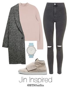 """""""Basic Colors: Jin"""" by btsoutfits ❤ liked on Polyvore featuring Palm Angels, Violeta by Mango, Topshop and The Horse"""