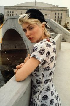Berets and prints: Debbie in 1980