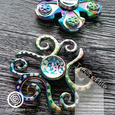 Check out this item in my Etsy shop https://www.etsy.com/hk-en/listing/528574013/edc-iridescent-metal-fidget-spinner-the
