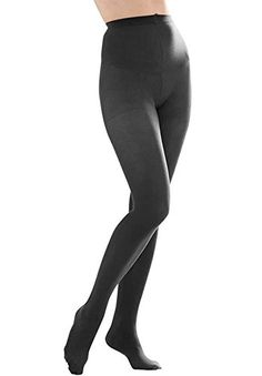 c73306332e854 Butterfly Hosiery Women's Ladies Plus Size Queen Opaque Footed Tights  Fashion Stockings Grey Ultra soft with wide comfortable waistband Absolute  opaque ...