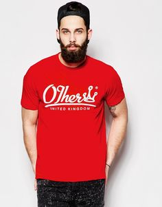"T-shirt by Other Soft-touch, cotton jersey High, ribbed neck Logo print to chest and reverse Regular fit - true to size Machine wash 100% Cotton Our model wears a size Medium and is 181cm/5'11.5"" tall Exclusive to ASOS Click here for more ASOS Exclusives"