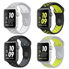 Apple Watch Band 4Pack otmake Soft Silicone Nike+ Sport Style Replacement iWatch Strap band for Apple Wrist Watch Series 1 Series 2 (42mm-set1) https://www.carrywatches.com/product/apple-watch-band-4pack-otmake-soft-silicone-nike-sport-style-replacement-iwatch-strap-band-for-apple-wrist-watch-series-1-series-2-42mm-set1/  - More Festina ladies watches at https://www.carrywatches.com/shop/wrist-watches-for-women/festina-watches-for-women/