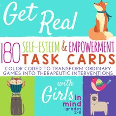 Get Real with Girls In Mind was designed for individual counseling with girls and girls groups. Topics cover girls self-esteem, friendship, social emotional literacy, relationships, social skills, media literacy, ideas about gender, hope, optimism, and best possible future self.