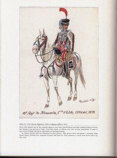 Hussars: Plate 51: 13th Hussar Regiment, Elite Company Officer, 1813.