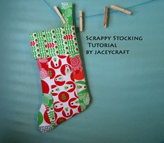 Jaceycraft: HCB: Scrappy Stocking Tutorial