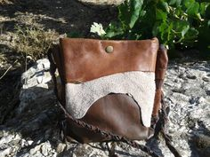 Leather Purse Bag / Brown Leather Crossbody Bag by LunaBagDesigns, $70.00