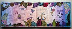 Doodled art journal page for a week. By @Karen Jacot grunberg