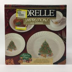 Corelle Impressions Holiday Magic 20 Piece Service For 4 Christmas Unopened Box  | eBay