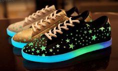 Womens Trendy Glow In The Dark Casual Sneakers