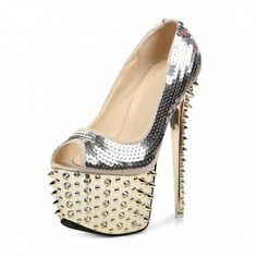 glittering-golden-upper-peep-toe-spikes-dotted-outsole-sandals