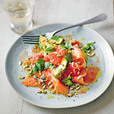 Waitrose section of this image we present in our Pinteres account, you can find sufficient information about salmon Salad Recipe … Grapefruit Recipes, Grapefruit Salad, Smoked Salmon Salad, Salmon Salad Recipes, Clean Eating Recipes, Healthy Eating, Healthy Recipes, Drink Recipes, Healthy Meals