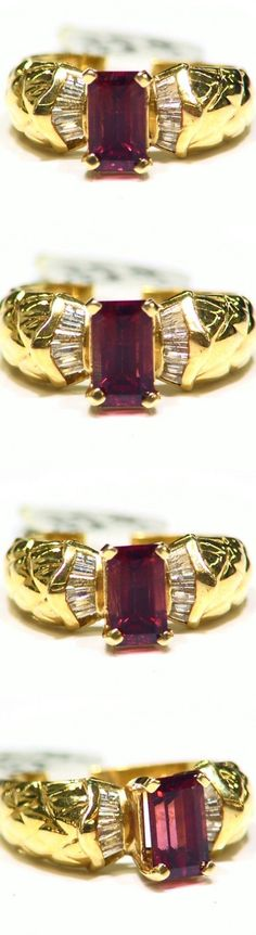 Rings 165014: Vintage 2.21Ct 14K Solid Gold Natural Red Spinel Diamond Engagement Ring Jewelry -> BUY IT NOW ONLY: $781 on eBay!