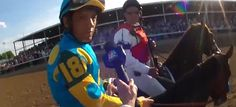 Behind the seating structure behind Victor Espinoza #KentuckyDerby2015