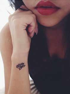Wrist Lotus Flower Tattoo for Women.