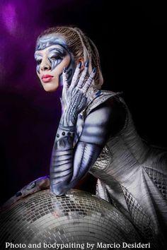 #bodypainting #futurismo #futuristc  #makeup #make #makeupme #marciodesideri