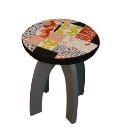Umbrella footstool by Papago Studio made with Umbrella Prints Trimmings 2012.  http://www.umbrellaprints.blogspot.com.au/
