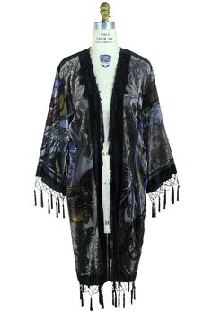 Women's Clothing Fashion Printing Women Sunscreen Coat Ultra Thin Loose Midi Summer Tassels Cape Poncho Shirt Meticulous Dyeing Processes