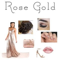 """""""Rose Gold"""" by mhussain6 on Polyvore featuring Liliana, Lime Crime and Aspinal of London"""
