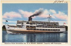 Wilson Line SS Mount Vernon made several daily trips to Marshall Hall Park.