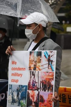 In March 27, Chin Youth Organization in South Korea protest in front of JUNTA embassy In South Korea. #whatshappeninginmyanmar Military Coup, South Korea, Youth, March, Organization, Getting Organized, Organisation, Korea, Tejidos