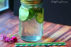 Green Tea, mint and lime water- Fat Flush Detox Drink Recipe