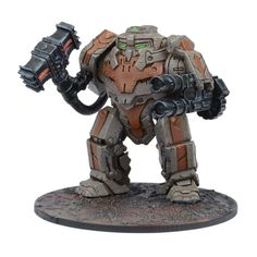 This set contains 1 plastic model, including: - Twin Hailstorm Autocannon - Ancestor Forge Hammer - 60mm Round Base - Mantic Points Models supplied unassembled and unpainted. Premium Plastic requires