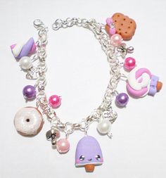 Hey, I found this really awesome Etsy listing at https://www.etsy.com/listing/93776179/pink-and-violet-bracelet-with-cookies