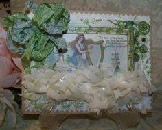 St. Patrick's Day Card Handmade Vintage Style St. by TheNestinSLT