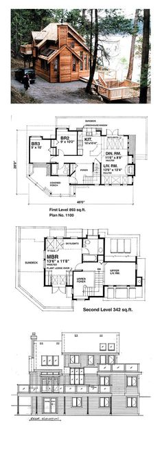 Contemporary House Plan 76000 | Total Living Area: 1235 sq. ft., 3 bedrooms and 2 bathrooms. #contemporaryhome
