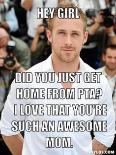 "I don't really think Ryan Gosling is attractive but this ""Hey girl"" fits for my boyfriend. We start out watching TV but when I pick up my crochet, he often watches me do that instead."