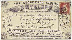 Arthur Granger's safety envelope, postmarked 1862.