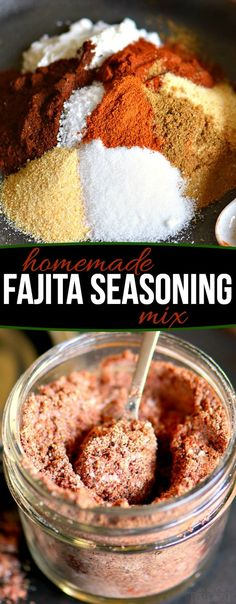 This Easy Fajita Seasoning recipe is great to have on hand Lots of great flavor with ingredients that you have in your pantry Adds amazing flavor to chicken beef pork and veggies Makes a great gift as well for the foodies in your life too Mom On Timeout Best Fajita Seasoning Recipe, Beef Fajita Recipe, Seasoning Mixes, Chicken Burrito Seasoning Recipe, Homemade Spices, Homemade Seasonings, Steak Fajitas, Chicken Fajitas, Dry Rubs