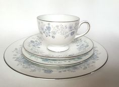 Wedgwood Belle Fleur 4 Place Settings Four Pieces Each Lunch Tea Snack #Wedgewood