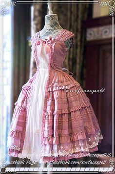 "Surfacespell ""Hyacinth"" Layered Look JSK, Lilac. Classic Lolita Dress"