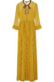 Gucci's embellished silk-chiffon gown!!