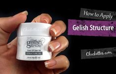 Gelish Structure is intended for use on natural nails and just adds a bit of extra strength. It's great for people with brittle nails that chip easily, and I especially recommend using it aft…