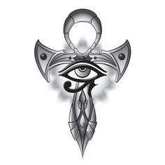 Tatuagem ankh com olho de hórus