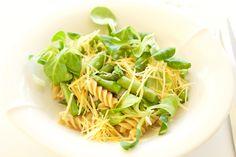 Hämmentäjä: Asparagus and lemon pasta. Parsa-sitruunapasta