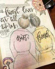 Proverbs 17:17. Bible Journaling