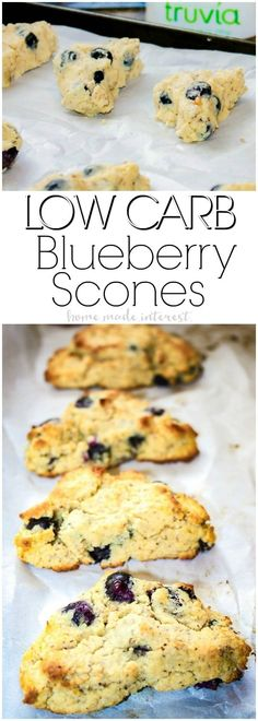 Low Carb Blueberry Scones | These low carb blueberry scones are a low carb baking recipe that makes an amazing low carb snack! Satisfy your sweet tooth with low carb blueberry scones that are only 5 net carbs! If you are on a low carb diet this is a low carb recipe you don't want to miss.  via @hmiblog