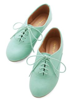 Everyday Adorable Flat in Mint | Mod Retro Vintage Flats | ModCloth.com