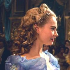 Cinderella's hairstyle at the ball