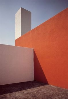 Roof terrace', Mexico, 1969 by Rene Burri. House of Mexican architect Luis Barragan. Colour Architecture, Minimal Architecture, Roof Architecture, Minimal Photography, Photography Puns, Plakat Design, Magnum Photos, Metal Roof, Modern House Design