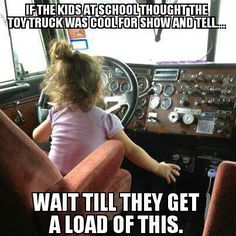 This was So Me as a Kid!!! Loved playing in my Dad's truck!! Some of the Best Times of My Life!!! Always wonderful adventures!!